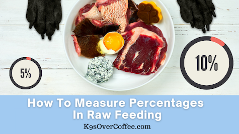 K9sOverCoffee| How to measure percentages in raw feeding