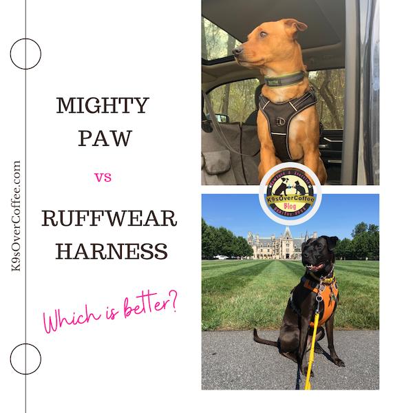 K9sOverCoffee.com |  Harnais Mighty Paw vs Ruffwear - Lequel est le meilleur ?