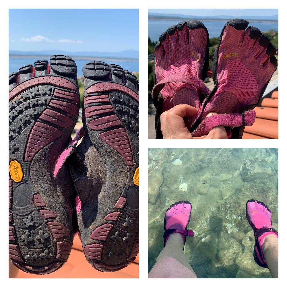 K9sOverCoffee.com | I'm glad I brought my Vibrams to use on Crotia's rocky beaches