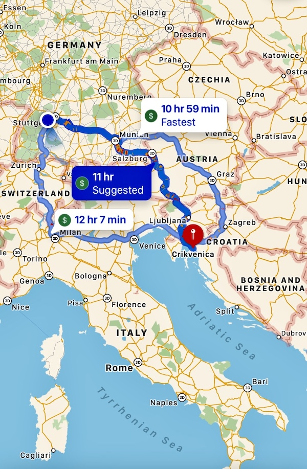 K9sOverCoffee.com | Mapping out the road trip from Germany to Croatia