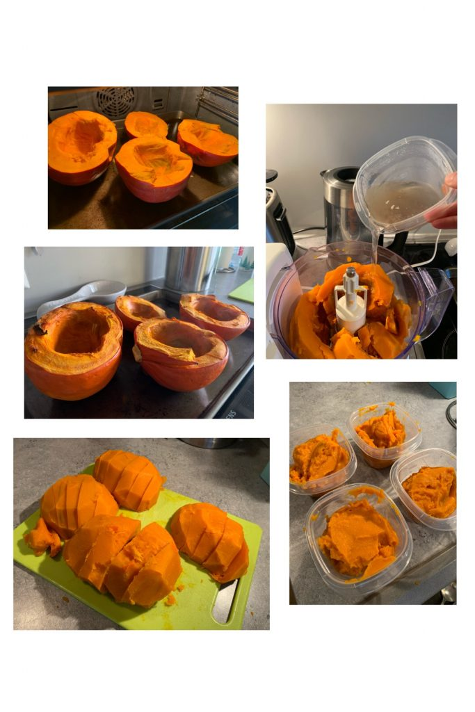 K9sOverCoffee.com   Making homemade pumpkin puree for dogs with a little extra add on